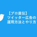 【プロ直伝】ツイッター広告の運用方法とやり方【知って得】
